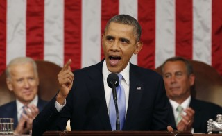 President Obama Delivers State Of The Union Address At U.S. Capitol