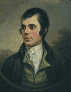The most widely recognized portrait of Robert Burns by Alexander Nasmyth.