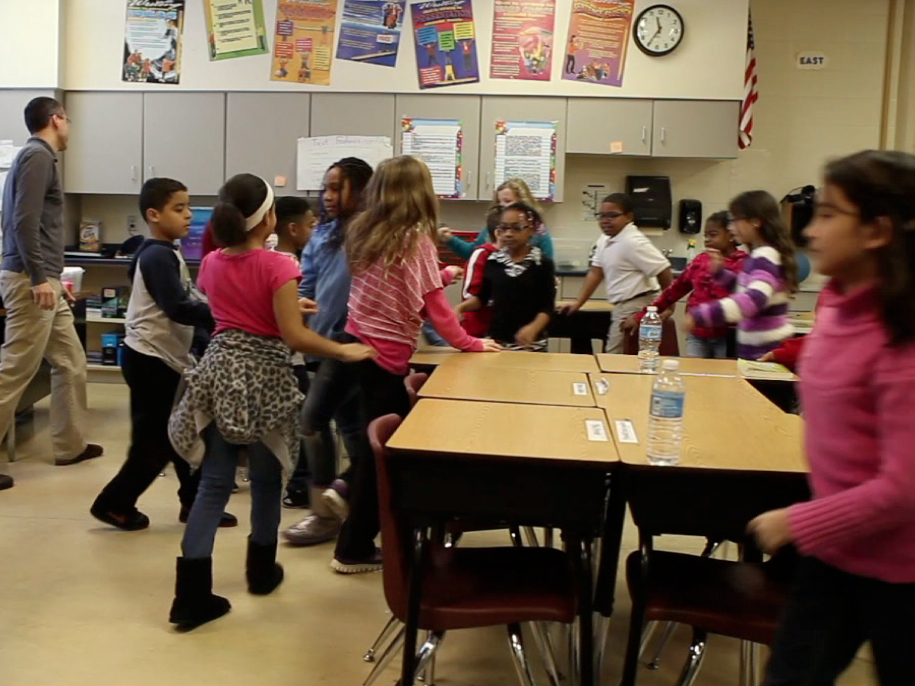 Fourth grade classroom at Fox Hill Elementary School in suburban Indianapolis