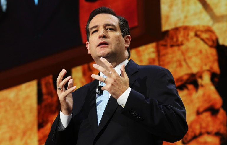 Then-Senate candidate Ted Cruz speaks at the 2012 Republican National Convention. Photo by Spencer Platt/Getty Images