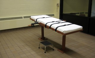 This November 30, 2009 photo shows the witness room facing the execution chamber of the 'death house' at the Southern Ohio Correctional Facility in Lucasville,Ohio. Photo by Caroline Groussain AFP/Getty Images