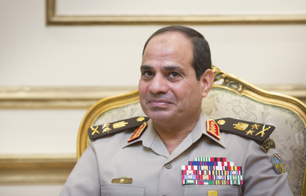 Egyptian Defense Minister Gen. Abdel-Fattah el-Sissi, who was also appointed deputy prime minister, is pictured here on Aug. 1, 2013 in Cairo, Egypt. Photo by Ute Grabowsky/Photothek via Getty Images