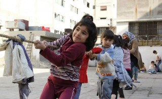 "Designated ""child-friendly space"" in Homs, Syria. Photo courtesy of UNICEF"
