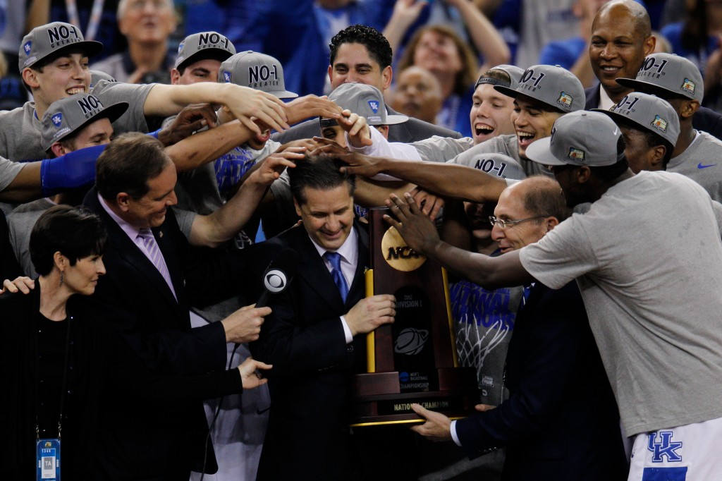 Think you can pick the perfect bracket this year? Quicken Loans will take that bet, to the tune of $1 billion. Photo of the 2012 NCAA champions Kentucky by Chris Graythen/Getty Images