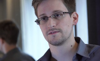 Edward Snowden speaks to The Guardian newspaper. Handout photo from The Guardian
