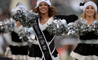 OAKLAND, CA - DECEMBER 15: The Raiderettes the Oakland Raiders Cheerleaders performs during an NFL Football game against the Kansas City Chiefs at O.co Coliseum on December 15, 2013 in Oakland, California. (Photo by Thearon W. Henderson/Getty Images)
