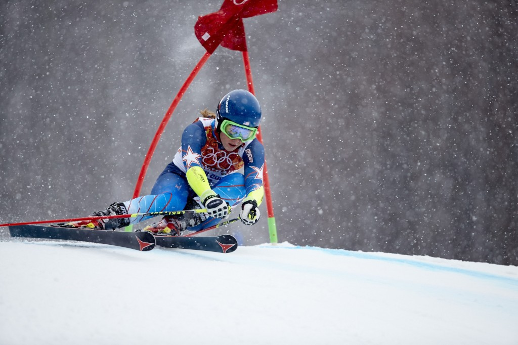 Mikaela Shiffrin skis the giant slalom at Sochi on Friday. Photo by Simon Bruty /Sports Illustrated/Getty Images