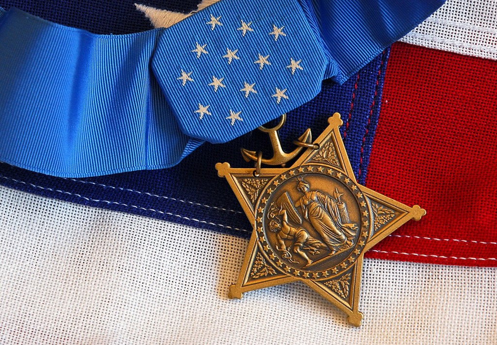 A U.S. military review looked at the records of thousands of soldiers to find those overlooked for the Medal of Honor.  This medal was awarded posthumously to  Lt. Michael P. Murphy on October 2, 2007. Photo by Mass Communication Specialist 1st Class Brandan W. Schulze/U.S. Navy