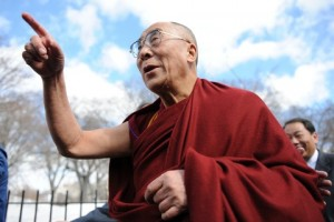The Dalai Lama, seen here during a 2010 visit to Washington, will meet with President Barack Obama Friday at the White House. Photo by Paul J. Richards/AFP/Getty Images
