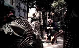 Jeremy Scahill in Somalia. Photo by Richard Rowley
