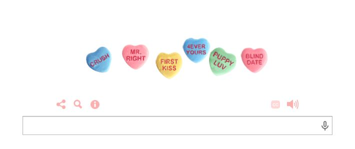 Valentine's Day Google Doogle