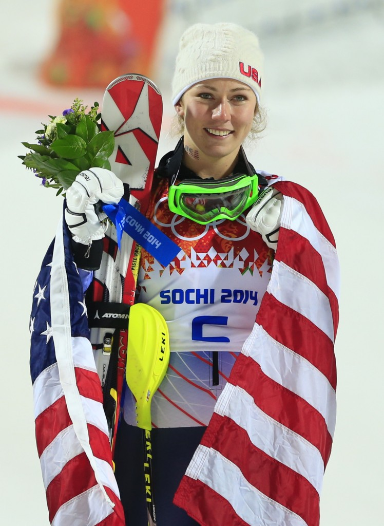 Shiffrin is the youngest alpine skier to win gold in the slalom. Photo by Alexander Klein/AFP/Getty Images
