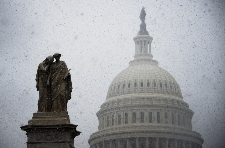 Senators intend to pull an all-nighter Monday to push acceptance of climate change as fact. Photo by AFP/Getty Images