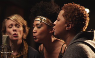 "Jo Lawry, Judith Hill and Lisa Fischer singing backup in ""20 Feet From Stardom."" Courtesy: RADiUS-TWC"