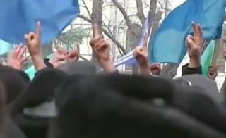Protest in Crimea region of Ukraine
