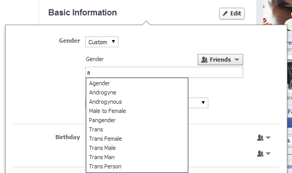 Facebook added over 50 gender options for its U.S. users Thursday.