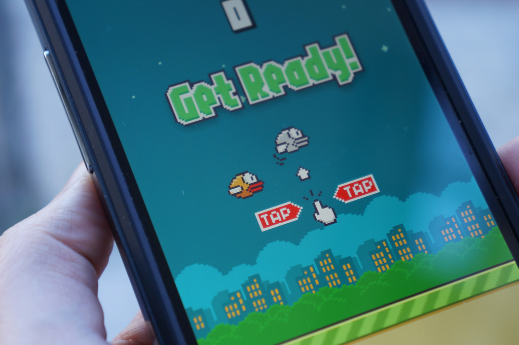 "The popular mobile app ""Flappy Bird"" has been downloaded more than 50 million times. Photo by Flickr user Desiree Catani"
