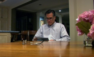 "Mitt Romney in his home in the documentary ""Mitt."" Photo courtesy of Netflix"