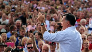 "Mitt Romney on the campaign trail in ""Mitt."" Photo courtesy of Netflix"