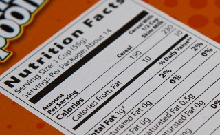 The nutrition facts label may be getting a makeover soon. Photo by Flickr user Kiwikat88