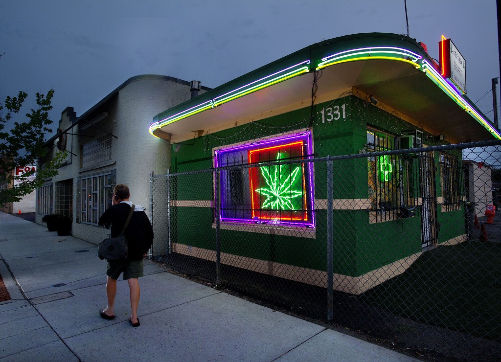 Marijuana dispensaries, like this one in Denver, now have a safe place to stash their earnings. Photo by Randall Benton/Sacramento Bee/MCT via Getty Images