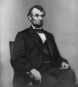 Abe Lincoln sat for this portrait by Anthony Berger three days before he turned 54.