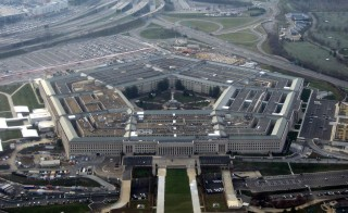 Carter is seeking to boost Pentagon spending to Photo of Pentagon by Wikimedia user David B. Gleason