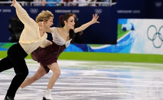 Meryl Davis and Charlie White of the US