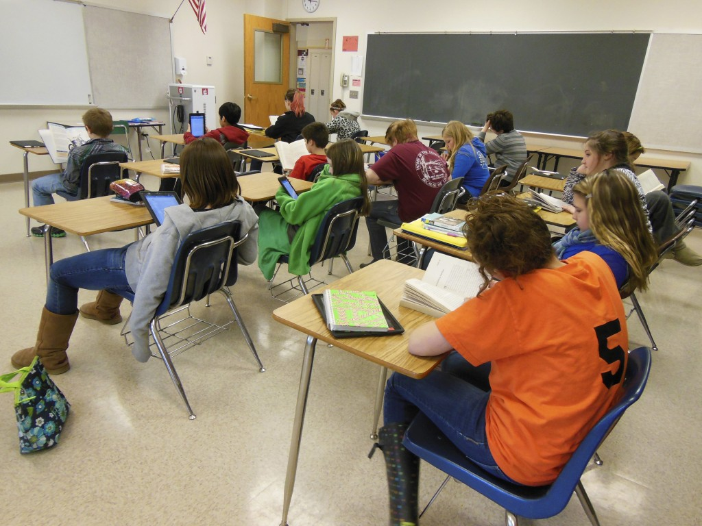 According to the Programme for International Student Assessment, American students performed just above average on a new, international test of problem-solving skills given to 15-year-olds. And an Annie E. Casey Foundation report cautions that there are wide racial disparities in educational opportunity across the country. Photo by Getty Images