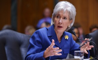 US Health and Human Services Secretary Kathleen Sebelius testifies before the Senate Finance Committee on health insurance exchanges on November 6, 2013 in the Dirksen Senate Office on Capitol Hill in Washington, DC. Photo by Mandel Ngan/AFP/Getty Images
