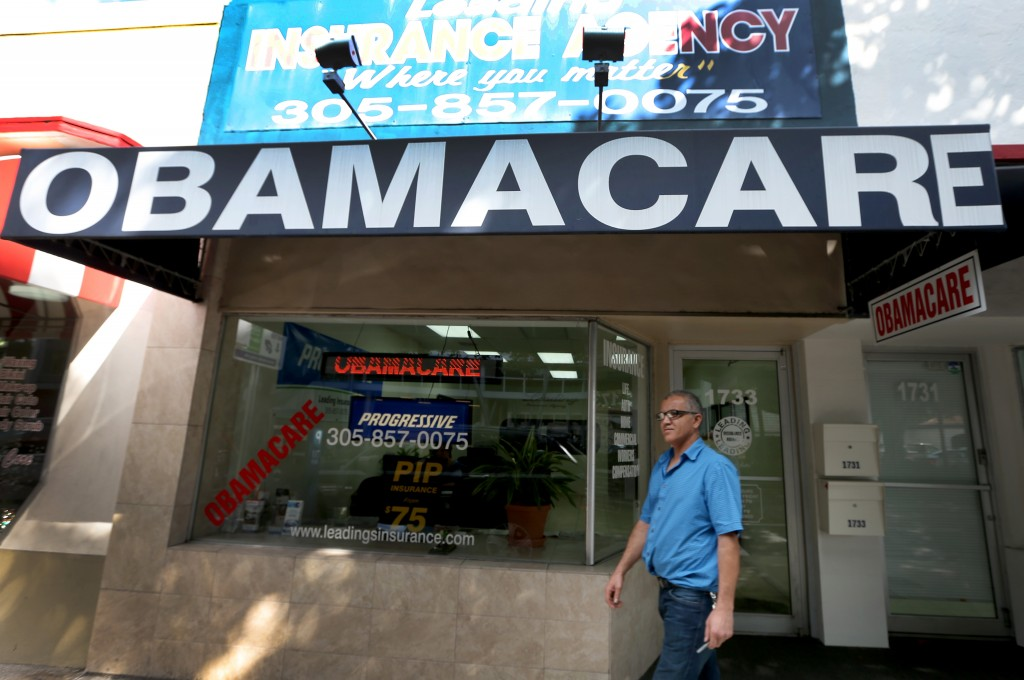 Leading Insurance Agency in Miami, Fla. offers enrollment services for Affordable Care Act plans. Photo by Joe Raedle/Getty Images
