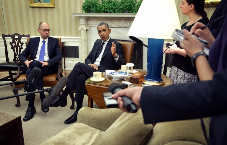 Obama Meets With Ukrainian Prime Minister Yatsenyuk At The White House