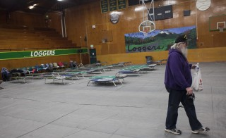 A  temporary Red Cross shelter was opened in Darrington, Washington after a massive mudslide killed at least 8 on Sunday. Photo by David Ryder/Getty Images