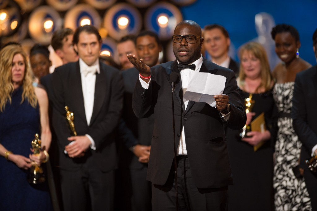 "When ""12 Years a Slave"" won Best Picture at the Academy Awards, British filmmaker Steve McQueen became the first black man to receive an Oscar in the category. Despite the win and pushes by Hollywood to increase diversity, off screen politics about whose talent gets recognized every year have changed little. Photo by Michael Yada/Academy of Motion Pictures Arts and Sciences"