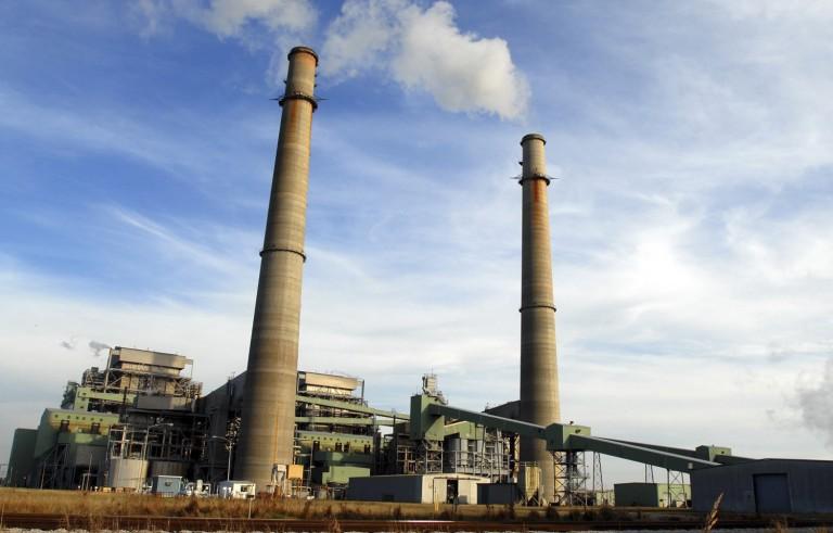 Smoke stacks from the NRG power plant outside of Jewett, Texas.  Photo by Nick Simonite/Associated Press