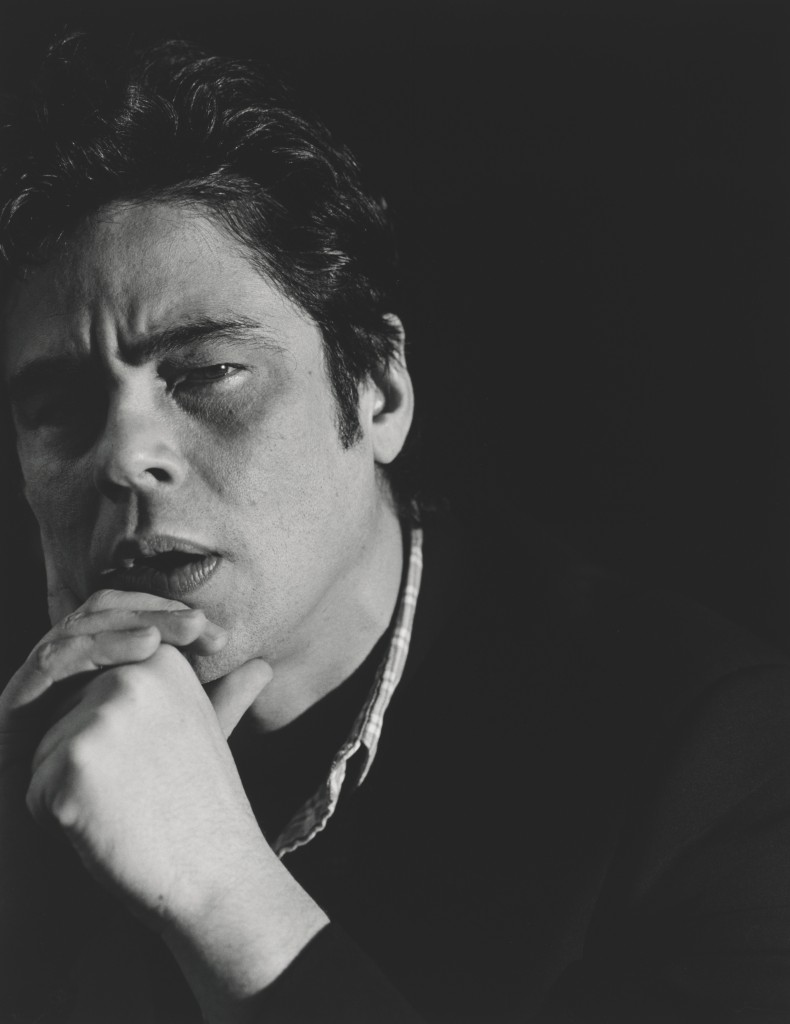 Photo of Benicio Del Toro by Cass Bird. Courtesy of National Portrait Gallery.