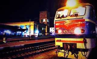 The team travelled across Ukraine by train on Thursday. Photo by Morgan Till