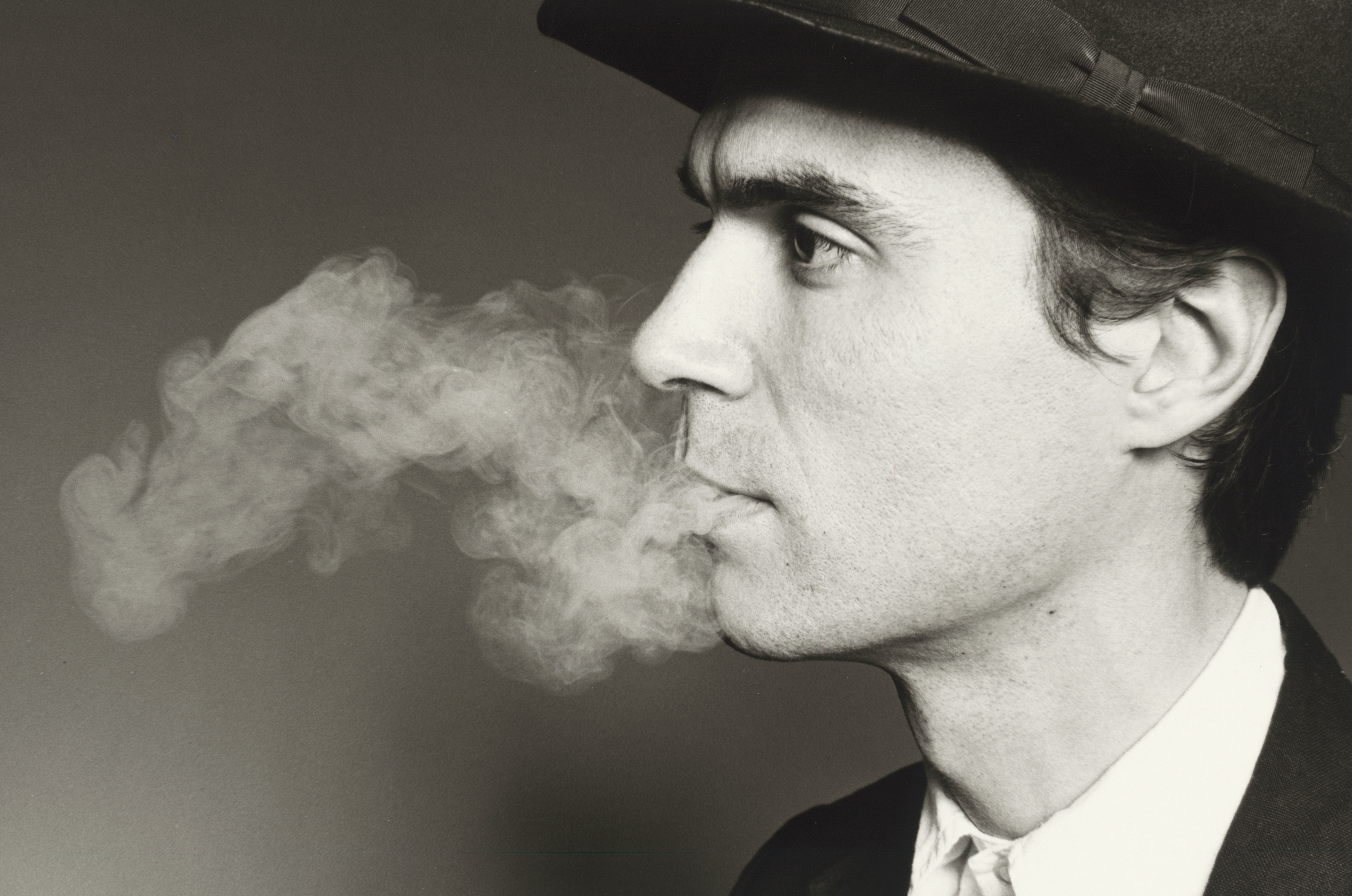 Photo of David Byrne by Marcia Resnick. Courtesy of National Portrait Gallery.