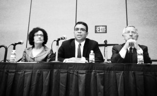Debo Adegbile sits on a panel at the American Bar Association's annual meeting in San Francisco in August, 2013 (photo by Flickr user Steve Rhodes).