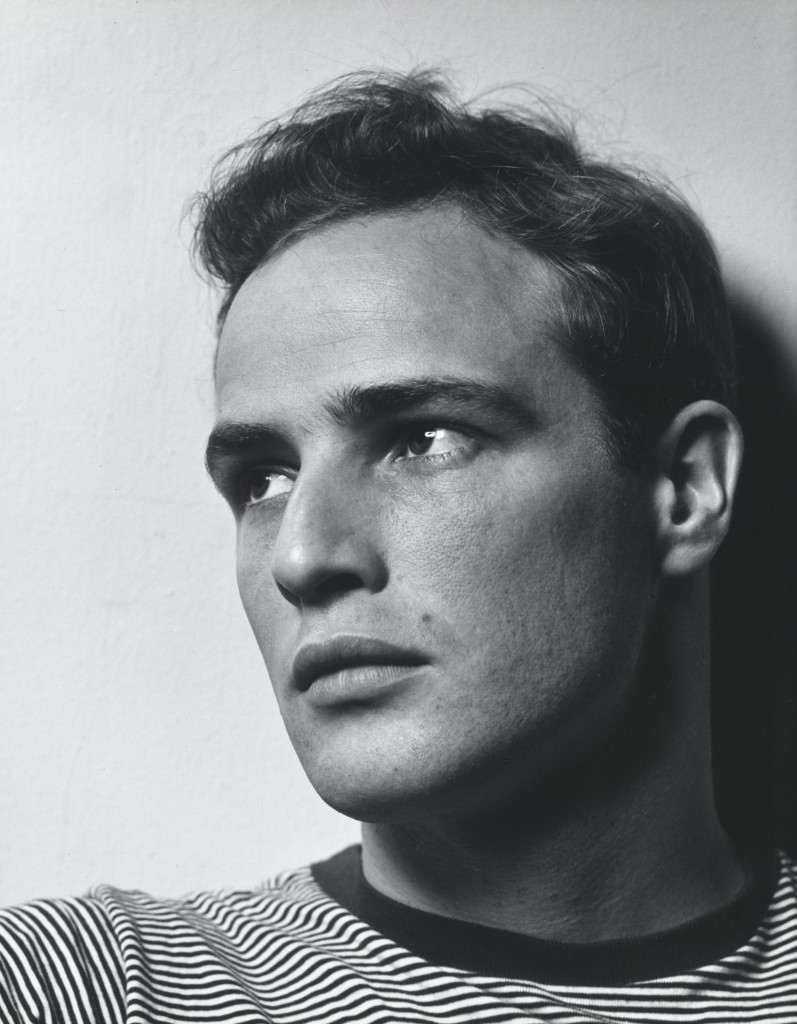 Photo of Marlon Brando by Philippe Halsman. Courtesy of National Portrait Gallery.