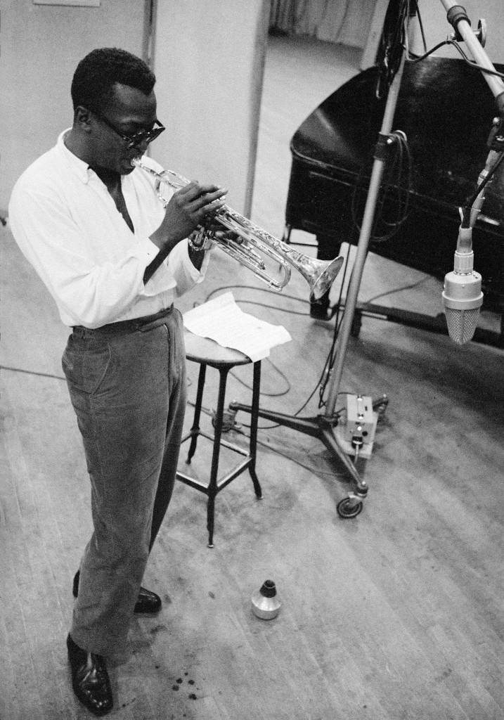 Photo of Miles Davis by Aram Avakian. Courtesy of National Portrait Gallery.