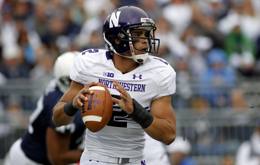 The National Labor Relations Board ruled on Wednesday that Northwestern football players qualify as employees and can unionize. Northwestern quarterback Kain Colter testified on behalf of the College Athletes Players Association, which brought the case. Photo by Justin K. Aller/Getty Images