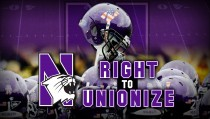 RIGHT TO UNIONIZE monitor northwestern football