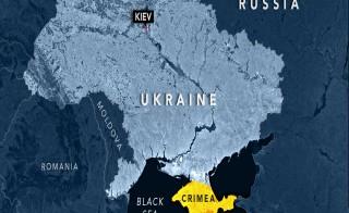 Map of Russia, Ukraine and Crimea, NewsHour Weekend