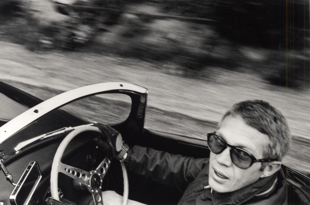 Photo of Steve McQueen by William Claxton. Courtesy of National Portrait Gallery.