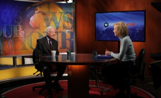 Former President Jimmy Carter sat down with Judy Woodruff Wednesday to discuss Russia's annexation of Crimea, the progress and limitations of working with Israel and his own commitment to fight discrimination and violence against women and girls around the world. Photo by Ariel Min/PBS NewsHour