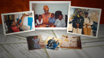 An album of family photos showing the Fofanas.