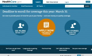 Today marks the one-year anniversary of the launch of HealthCare.gov. Screengrab from HealthCare.gov