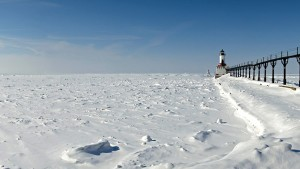 Ice in Lake Michigan near Michigan City, Indiana. Photo by Flickr User Tom Gill