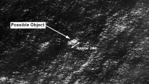 Satellite imagery provided to AMSA of objects that may be possible debris of the missing Malaysia Airlines Flight MH370